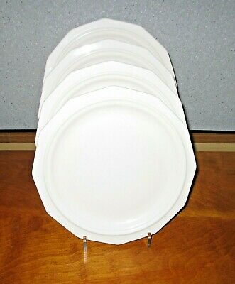 """Pfaltzgraff Heritage White Dinner Plates 10-1/4"""" Lot of 4 USA EUC More Available"""