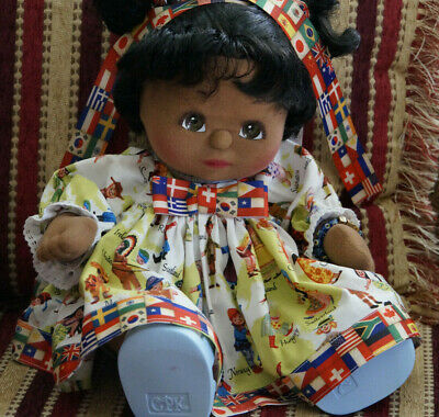 Mattel My Child Doll - Aa - Brown Eyes - 1986 Us Girl Dressed