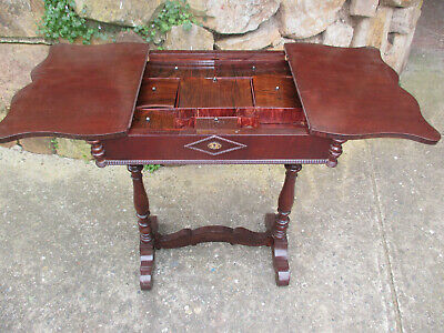 ANTIQUE SEWING TABLE / CABINET. Ringwood Nth, Vic.