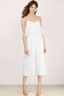 Finders Keepers the Label White Midi Jumpsuit Size Small