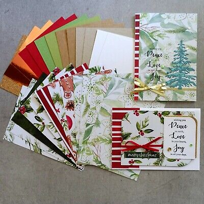 Kaisercraft Christmas Peace & Joy 6X4 Card Paper Pack Red White Green 25 Sheets