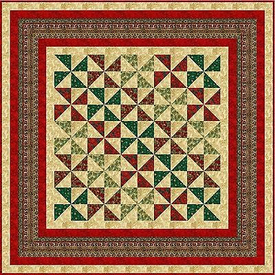 """FIRST NOEL - 68"""" - Pre-cut Patchwork Quilt Kit by Quilt-Addicts Double"""