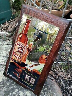 Tooth's KB Lager  Beer Advertising Pub Mirror c1960's, 28cm