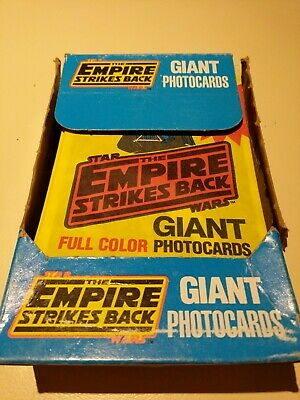 Vintage Star Wars Empire strikes back esb topps giant photo cards complete box