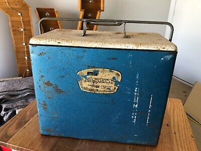 Vintage Retro Malley's Ice Box - Esky - Drinks Cooler