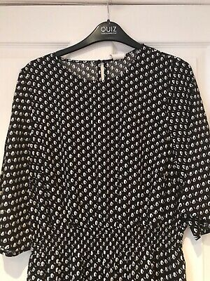Brand New With Tags On Black & White Dress Size 12 From H&M