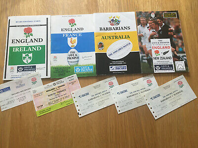 England Rugby Union Match Programmes And Tickets