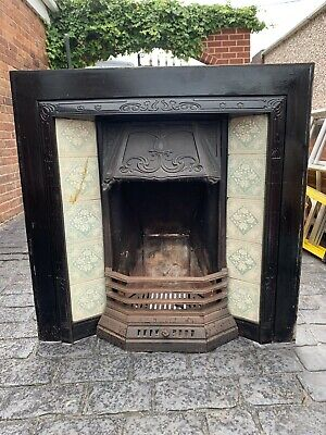 Beautiful Victorian Cast Iron Fireplace with Tiles