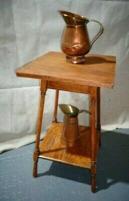 Antique Arts & Crafts Oak Side Table Sofa Table End Table Hall Table Vintage