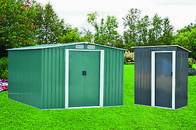 New Metal Garden Shed 3 X 5, 4 X 6, 6 X 8, 10 X 8 Garden Storage with free base