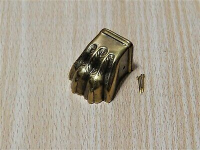 Claw Feet Antique Brass Four Toe Table Leg Cap Extra Small