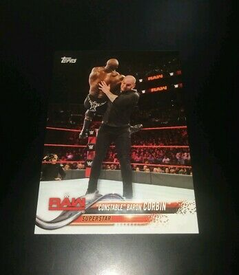 Baron Corbin Raw Superstar WWF WWE Wrestling Trading Card Topps 2018