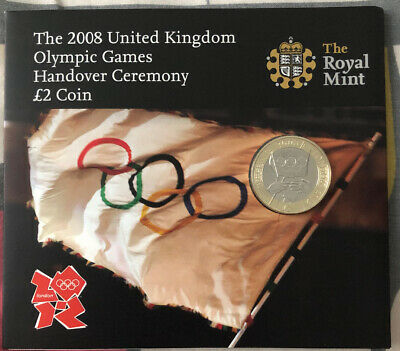 2008 Beijing Olympic Games Handover To London Uncirculated £2 Two Pound Coin