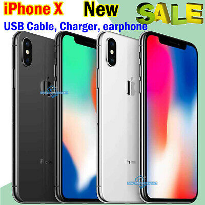 New Unlocked Sim Free Apple iPhone X Smartphone 256GB 64GB Various Colours UK