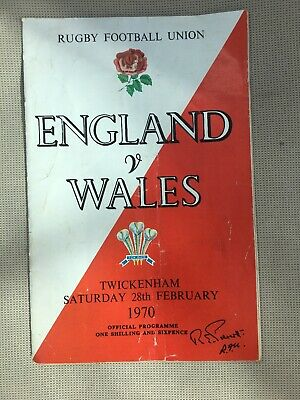 Rugby Football Union, ENGLAND v WALES 28th February 1970 Official Program