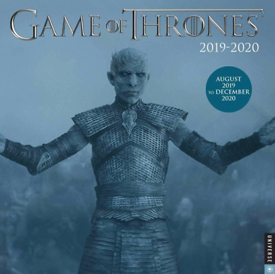 Game of Thrones 2019-2020 17-Month Wall Calendar Free Shipping
