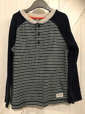 Boys Joules Age 6 Years Blue Stripe Long Sleeve Top Good Condition