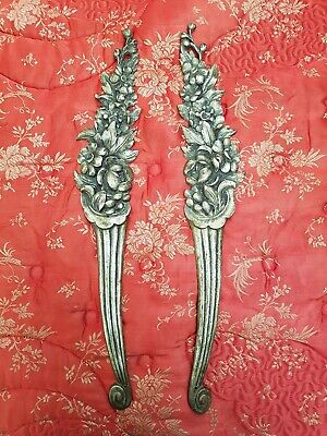 Large Pair Of Striking Antique French Ormolu Embellishments