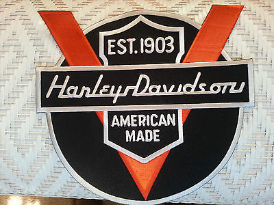Harley Davidson Old NOS Vintage patch 50th Anniversary Logo Embroidered Patch
