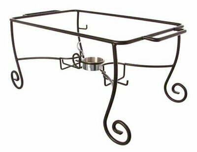 American Metalcraft CF1 Wrought Iron Chafer Frames with Cups, Silver