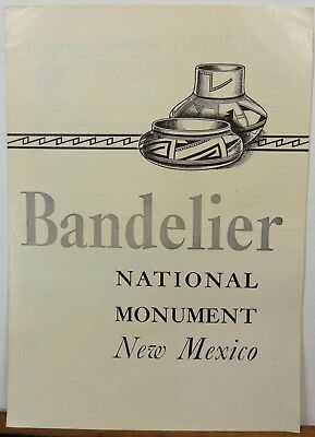 1954 Bandelier National Monument New Mexico vintage info brochure map b