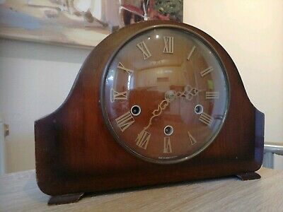Vintage Smiths Mantle Clock (three Train) 99p Start No Reserve