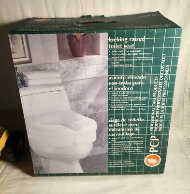 """PCP Professional Care Products 5"""" TOILET SEAT RISER Locking 7015 NEW IN BOX"""