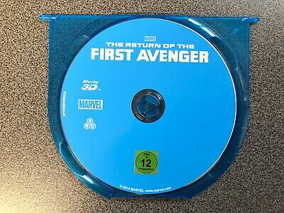 "THE RETURN OF THE FIRST AVENGER 3D  Marvel Studios ""nur die Blu Ray"" Top Zustand"