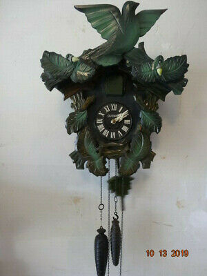 Vintage Mi-Ken MFG.Co. Cuckoo Clock Black Forest style