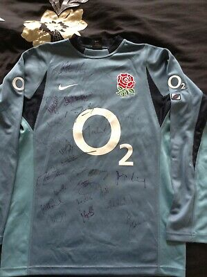England Rugby World Cup 2003 Shirt Hand Signed Autographs By Winning Squad