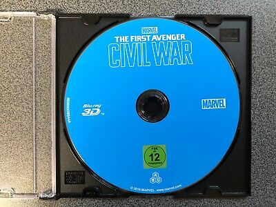 "THE FIRST AVENGER CIVIL WAR  3D  Marvel Studios ""nur die Blu Ray"" Top Zustand"