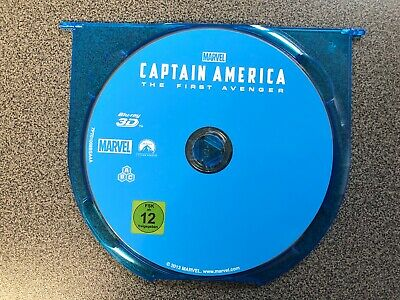 "CAPTAIN AMERICA THE FIRST AVENGER  3D  Marvel Studios ""nur Blu Ray"" Top Zustand"