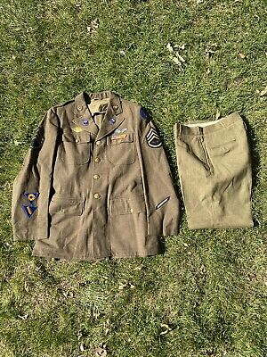 Original WWII US Army Air Force 1941 Dress Uniform With Wings And Patches.