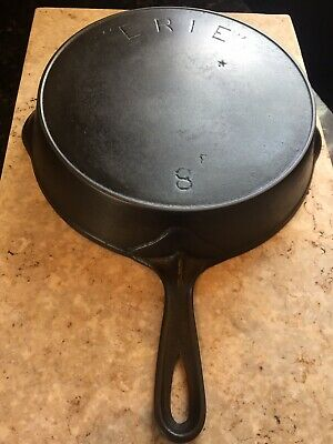 pre-griswold erie cast iron skillet No. 8 Has Crack Selling As Is