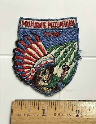 Mohawk Mountain Cornwall Connecticut Ski Resort Skiing Area Souvenir Patch Badge