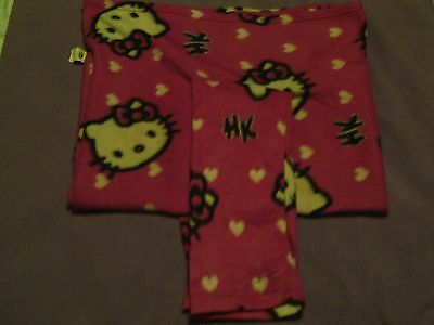 Girls Hello Kitty Fleece Snuggy With Arms Pink