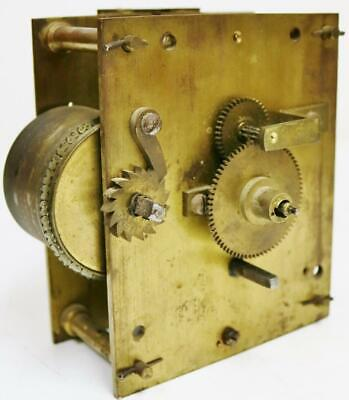 Antique English Single Fusee Bracket/Wall Clock Movement For Spares Or Repair