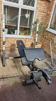 Used Marcy Iron Grip MD857 Olympic Weight Bench & Squat System