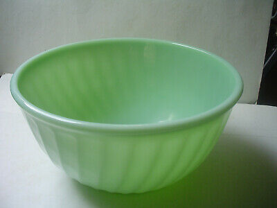 VINTAGE* Mid Century FIRE KING JADEITE GLASS SWIRL MIXING BOWL 9 inch, EXC Cond
