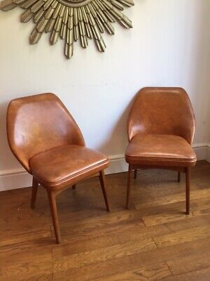 Pair Of Vintage Mid Century Retro Cocktail Chairs