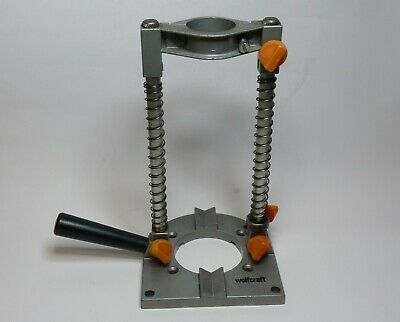 Wolfcraft Plunge Drill Guide Stand, 1073/2. 43mm Capacity. Adjustable Angles.