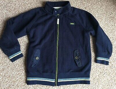 Ted Baker Boys Navy Zip Up Top Age 5-6 Years
