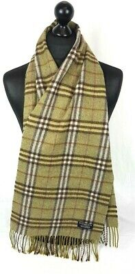 Burberry Scarf 100% Lambswool For Men And Women Made In England Green  #A699