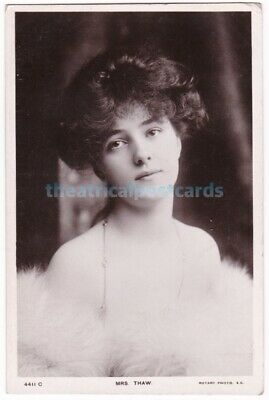 Stage actress, model Evelyn Nesbit (Mrs Thaw) in costume. Rotary postcard
