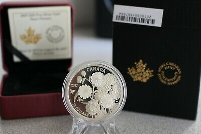 2017 Canada Pearl Flowers W/ Mother-of-Pearl 1 oz Silver $20 Proof OGP