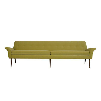 1960's Mid Century Sofa Completed Restore New Fabric Excellent