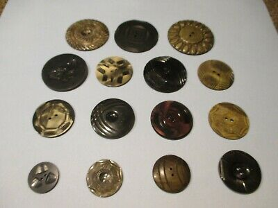 15 Vintage Art Deco Wafer Sewing Buttons #3