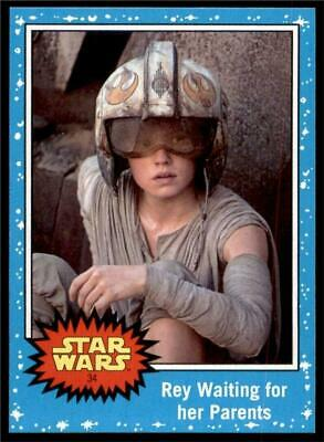 2019 Topps Journey to Rise of Skywalker Base #34 Rey Waiting for her Parents