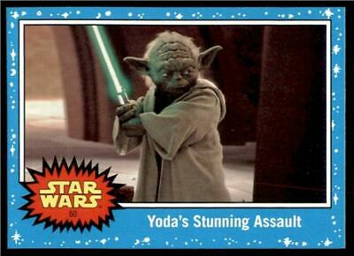 2019 Topps Journey to Rise of Skywalker Base #60 Yoda's Stunning Assault