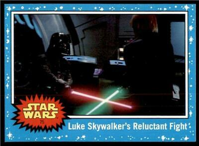 2019 Topps Journey to Rise of Skywalker Base #75 Luke Skywalkers Reluctant Fight